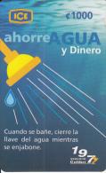 COSTA RICA - Save Water, Ahorre Agua, ICE Tel prepaid card C 1000, 11/06, used