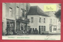 Péruwelz - Top Carte - Grand Bazar Parisien -1908  ( Voir Verso ) - Péruwelz