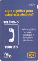 COSTA RICA - Telefono Publico, ICE Tel prepaid card C 500, 06/07, used