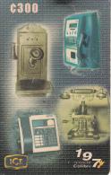 COSTA RICA - Telephones, 50 years ICE Telecom, ICE Tel prepaid card C 500, 04/00, used