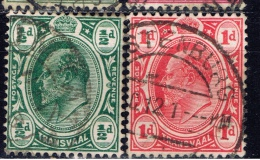 RSA+ Transvaal 1905 Mi 131-32 Eduard VII. - South Africa (...-1961)