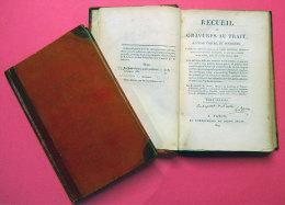 1809 Recueil De Gravures Au Trait,à L'eau Forte Et Ombrée 2 Volumes Dédicacé Par J-B-P Lebrun Ex Libris Comte D'Adhemar - 1801-1900