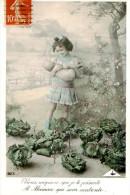 Belle Carte -   Enfants   Et Bébé    ,choux Et Paysage                 AC153 - Scènes & Paysages