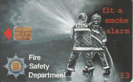GUERNSEY ISL. - Fire Safety Week 1, Tirage 12000, Used - Firemen