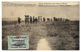 LUC 80 - Est Africain Allemand (occupation Belge) - échelon De Munitions *entier Postal + Timbre Avec Surcharge 15 -10 C - Tanzanie