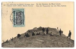 LUC 83 - Est Africain Allemand (occupation Belge) - Mont LUBAFU *entier Postal + Timbre Avec Surcharges 15 C* - Tanzanie