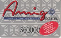 COLOMBIA - Amigo, Comcel Prepaid Card $60000, Used - Colombia