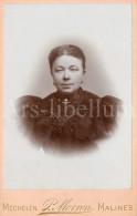 Cabinet Card / Photo De Cabinet / Kabinet Foto / Femme / Woman / Lady / Photographie Prosper Morren / Mechelen - Ancianas (antes De 1900)