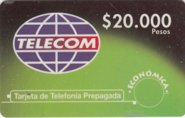 COLOMBIA - Telecom Prepaid Card $20000, Used - Colombia