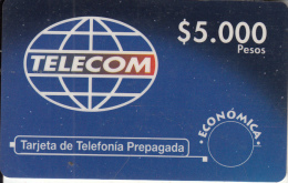 COLOMBIA - Telecom Prepaid Card $5000, Used - Colombia