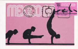MEXICO, PU-1968; Siluetas, Gimnasia, Cuarta Serie Postal Preolimpica 1968