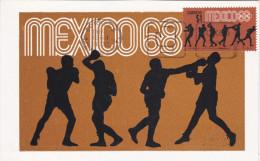 MEXICO, PU-1968; Siluetas, Boxeo, Cuarta Serie Postal Preolimpica 1968