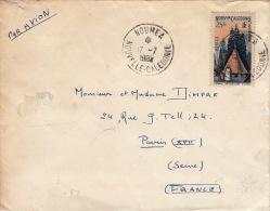 Lettre CaD Nouméa (Nouvelle-Calédonie) 25Fr >> Paris - Briefe U. Dokumente