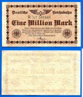 Allemagne 1 Million Mark 1923 Reichsbahn Train Allemand Reichsbanknote Germany Que Prix + Port Marks Ppal Skrill Bitcoin - [ 3] 1918-1933 : Weimar Republic