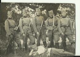 SERBIA , KINGDOM OF YUGOSLAVIA   --  SERBIAN ARMY, SOLDATEN, GEWEHR   --    10 Cm X 7 Cm - 1914-18