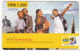 RWANDA - Family, MTN Prepaid Card FRW 1500, Used - Rwanda