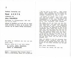 Boekhout / Heers: René Aerts - Oudstrijder En Krijgsgevangene ´40 - ´45.( 2 Scans) - Images Religieuses