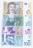 Serbia Banknotes, 10,20,50,100 Dinara 2013,2014, Unc - Serbia