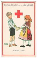 CROIX-ROUGE DE BELGIQUE - Croix-rouge De La Jeunesse, Soyons Amis (n°4), Maggie Salzedo - 1925 -  2 Scans - Croix-Rouge