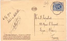 BELGIQUE  CARTE POSTALE OBL WATERLOO - Postmark Collection