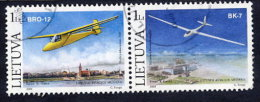 LITHUANIA 2003 Gliders Pair Used.  Michel 833-34 - Lituanie
