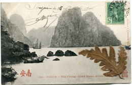 INDOCHINE CARTE POSTALE DEPART HAIPHONG 26 NOV ? TONKIN POUR HANOI - Postcards
