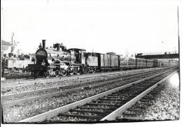 LOCOMOTIVE A VAPEUR Photographie Format Cpa Machine Et Train Des Chemins De Fer De L'Est - Equipment