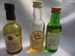 Ancienne Mignonnette Alcool : WHISKY : LONG JOHN, TALISKER Et J.B.. Buticulamicrophilie. - Miniature