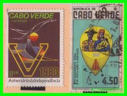 CABO VERDE  2  SELLOS   DIFERENTES  AÑO 1980 - África Del Sur (1961-...)