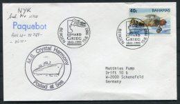 1993 Bahamas Japan NYK Line Ship Cover M/S Crystal Harmony / Edvard Grieg Bergen Paquebot - Bahamas (1973-...)