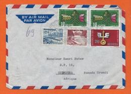 ENVELOPPE-BY AIR MAIL- PAR AVION - SUISSE - SAINTE-CROIX 1954 - USUMBURA - RUANDA URUNDI - Lettres & Documents