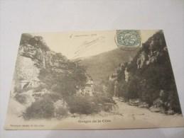 CPA GORGES DE LA CERE 1904 - Vayrac