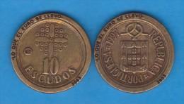 """PORTUGAL  10 ESCUDOS  1.997 KM#633 REPLICA  Colección """"LO QUE EL EURO SE LLEVO"""" SC/UNC  Réplica  T-DL-11.568 - Portogallo"""