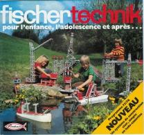 FISCHER-TECHNIK Catalogue - 24 Pages En Couleur - Programme 1975-76 (DISPONIBLE AUSSI EN LANGUE ALLEMANDE). - Fischertechnik