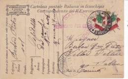CARD  POSTALE IN FRANCHIGIA 1°GUERRA MONDIALE 23° CORPO D'ARMATA OSP. DA CAMPO 006 ROSSO P.7  -FP-V-2-0882-24970 - Weltkrieg 1914-18