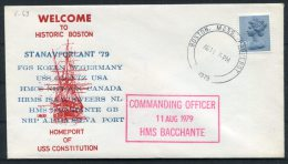 1979 GB USA Boston Paquebot Royal Navy Ship Cover H.M.S. BACCHANTE - Ships