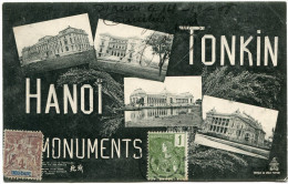INDOCHINE CARTE POSTALE DEPART HANOI ? OCT 08 TONKIN POUR LA FRANCE - Cartes Postales