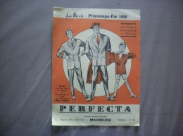 MAUBEUGE PERFECTA 2 PLACE DES NATIONS LA MODE PRINTEMPS ETE 1956 DEPLIANT PUBLICITAIRE - Publicités