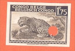 BELGIAN CONGO 1942. Leopard 1,75 Non Dentelé Punched Specimens: Mnh** [spécimen,Muster,muestra, ] - Congo Belge