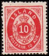1876. Aur-Issue. 10 Aur Carmine. Perf. 14x13½ (Michel: 8A) - JF192417 - Oblitérés