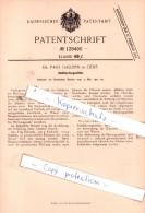 Original Patent  - Dr. Paul Galopin In Genf , 1901 , Stahlhärtungsmittel !!! - Documents Historiques