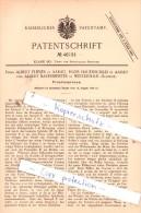 Original Patent  -  Firma A. Fleiner Und H. Hauenschild In Aarau Und A. Bauermeister In Winterthur !!! - Documents Historiques