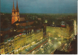 ZAGREB (ex Yougoslavie) Centar Grada Nocu - Center Of The Town - Centre Ville La Nuit - Kroatië