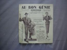 DUNKERQUE AU BON GENIE 2 RUE ALFRED DUMONT HABILLEMENT TOUT CE QUI EST UTILE DANS LE MENAGE DEPLIANT PUBLICITAIRE - Publicités