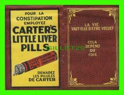 """LIVRET PUBLICITAIRE """"LES PILULES DE FER DU DR. CARTER"""" - CELA DÉPEND DU FOIE - M10 PAGES - - Autres"""