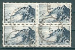 Collection FRANCE ; 1946 ; Y&T N° 766  ; Lot : Bloc De 4 ; Oblitéré - Used Stamps