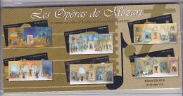 BLOCS  FEUILLETS  N°7-8-9-10-11-12 NEUFS XX  -LES OPERAS DE MOZART -2006- SOUS BLISTER - Blocs Souvenir