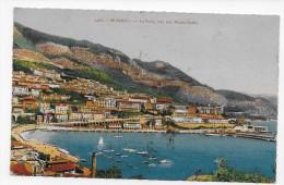 (RECTO / VERSO) MONACO - N° 1406 - LE PORT VUE SUR MONTE CARLO - BEAU CACHET - CPA - Harbor