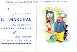 CALENDRIER  G.MARCHAL 1966 Chatellerault - Petit Format : 1961-70