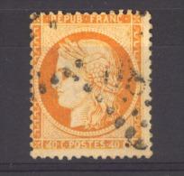 04034  -   France  :   Yv  38d  (o)   Variété :  4 Retouché  ,  Filet Du Bas Absent - 1870 Siege Of Paris